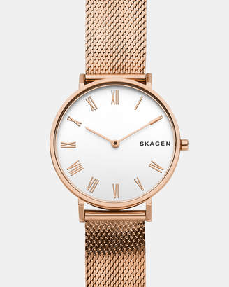 Skagen Hald Rose Gold-Tone Analogue Watch