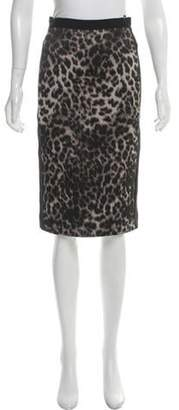Roland Mouret Animal Print Pencil Skirt Black Animal Print Pencil Skirt