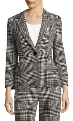 Escada Three-Quarter Sleeve Glen Plaid Jacket $1,375 thestylecure.com