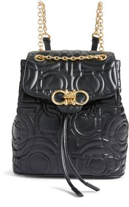 Salvatore Ferragamo Quilted Gancio Leather Backpack