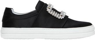 30mm Sneaky Viv Silk Satin Sneakers $1,325 thestylecure.com