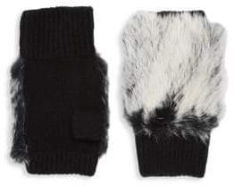 Adrienne Landau Plush Fur Fingerless Gloves