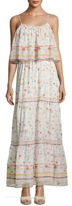 Joie Vernita Floral-Print Popover Maxi Dress, White Pattern $448 thestylecure.com