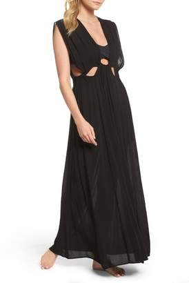 Elan International Cutout Maxi Cover-Up Dress