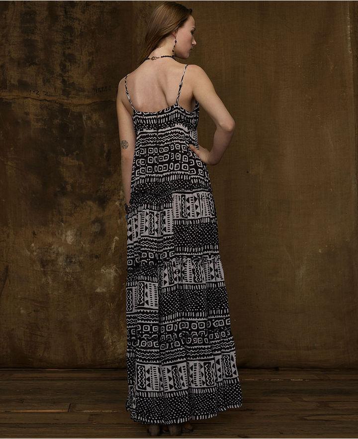 Denim & Supply Ralph Lauren Dress, Spaghetti-Strap Ruched Maxi