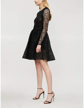Maje Sequined lace dress