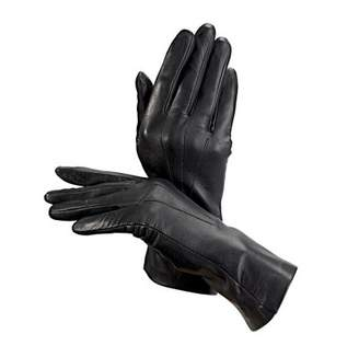 Aspinal of London Ladies Cashmere Lined Leather Gloves In Navy