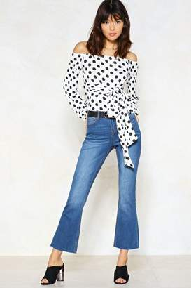 Nasty Gal I Flare About You Cropped Jeans