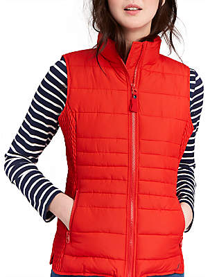 Joules Fallow Padded Gilet, Red