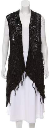 Masnada Draped Open Knit Vest w/ Tags
