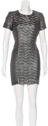 Torn By Ronny Kobo Textured Bodycon Mini Dress