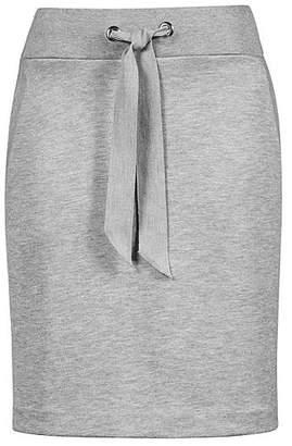 HUGO BOSS Jersey miniskirt with tie-detail waistband and metallic eyelets