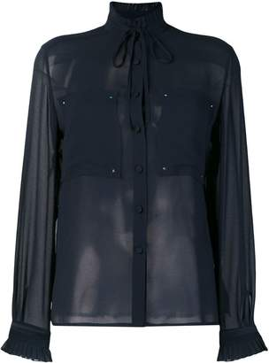 Golden Goose sheer frill collar blouse