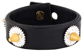 Eddie Borgo Natural Casing Studded Leather Bracelet