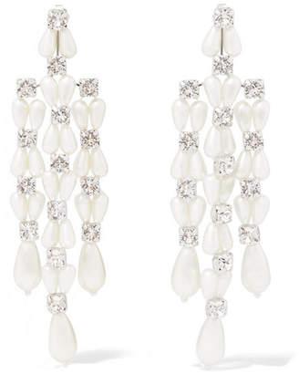 Simone Rocha Silver-tone, Crystal And Faux Pearl Earrings - White