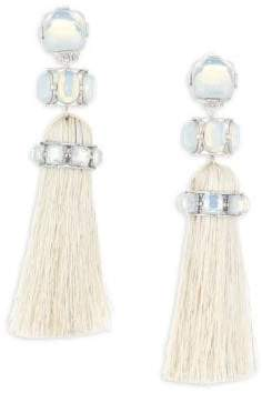 Tory Burch Horse Hair Tassel Clip-On Earrings