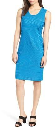 Ming Wang Jacquard Knit Sheath Dress