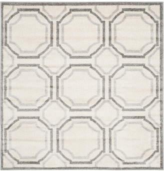 Safavieh Amherst Indoor/Outdoor AMT411B Light Grey/Ivory 5' x 5' Square Area Rug