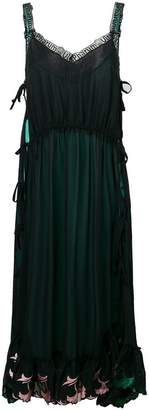 Marco De Vincenzo embroidered hem flared dress