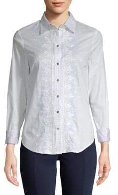Robert Graham Anela Woven Button-Down Shirt