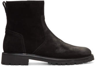 Belstaff Black Suede Atwell Boots