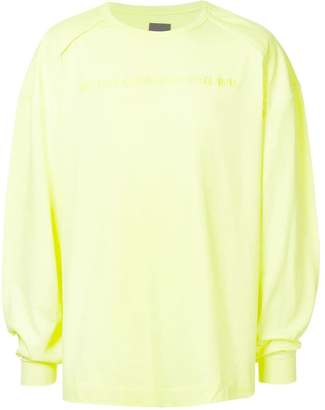 Juun.J slogan-detail long sleeve T-shirt