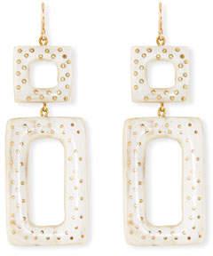 Ashley Pittman Rectangular Drop Earrings, Light