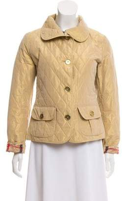 Burberry Metallic Quilted Jacket
