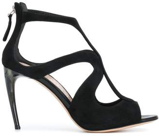 Alexander McQueen curved strap shoes