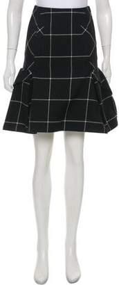 Sacai Wool Windowpane Skirt w/ Tags