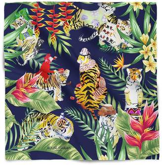House of Gharats - Tiger's Jungle Fashion Party Silk Neckerchief