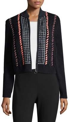Versace Women's Textured Zipper Cardigan