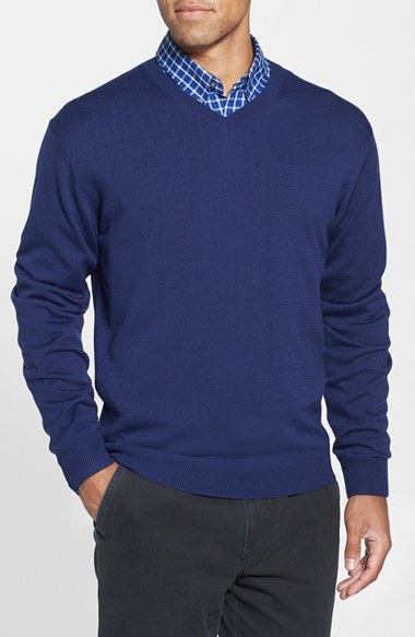 Cutter & Buck Men's Big & Tall Cutter & Buck 'Douglas' V-Neck Sweater