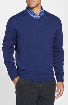 Cutter & Buck 'Douglas' V-Neck Sweater (Big & Tall) $108 thestylecure.com