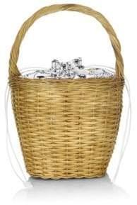 Edie Parker Lily Wicker Handbag