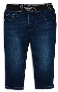 Armani Junior Boys' Logo Waistband Jeans - Baby