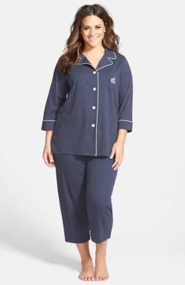 Lauren Ralph Lauren Knit Crop Pajamas