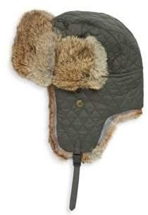 Surell Kid's Rabbit Fur Trapper Hat