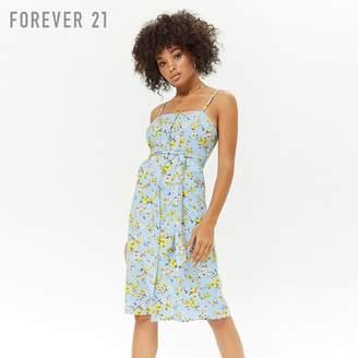 Forever 21 (フォーエバー 21) - Forever 21 フラワーキャミソールワンピース