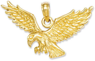 Macy's 14k Gold Charm, Solid Polished Eagle Charm