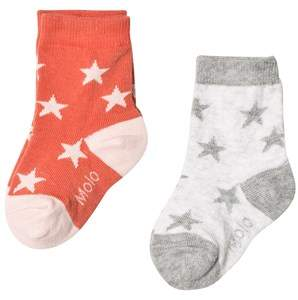 Grey and Red Socks Set