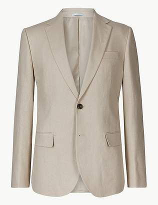 Marks and Spencer Textured Regular Fit Linen Jacket