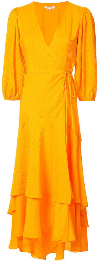 seersucker wrap dress