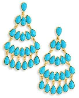 Kenneth Jay Lane Faux Turquouise Chandelier Earrings