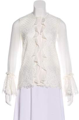Alexis Lace Embellished Long Sleeve Top