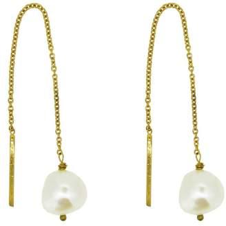 Yvonne Henderson Jewellery Pearl Thread Through Drop Earrings