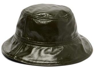 Marques Almeida Marques'almeida - Patent Leather Bucket Hat - Womens - Green