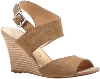 Sole Society Suede Asymmetrical Strap Wedge - Landry