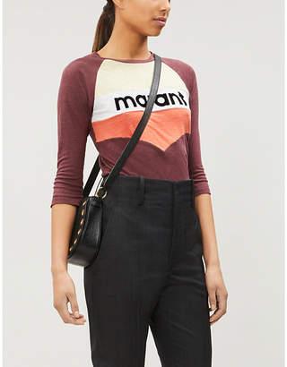 Etoile Isabel Marant Jordan logo-print linen-jersey T-shirt