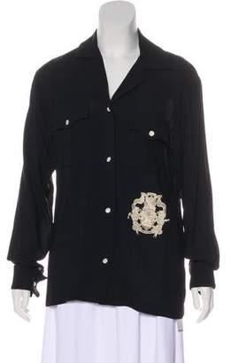 Dries Van Noten Embroidered Button-Up Top